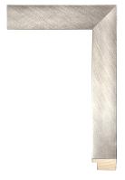 Rama drewniana, srebro szczotkowane