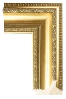 Rama drewniana stylowa, złocona
