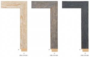 Ramy z litego drewna sosnowego, barwione i woskowane.