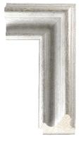 Klasyczna srebrna rama drewniana
