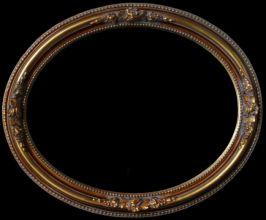 Rama Owalna pokryta płatkami złota (szlagmetal) nr.50