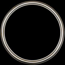 Rama Okrągła pokrycie płatki srebra szlagmetal   nr.48