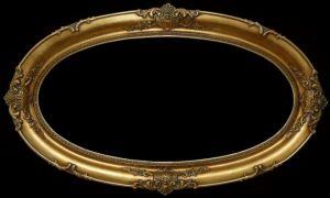 Rama Owalna pokryta płatkami złota szlagmetal    nr.49