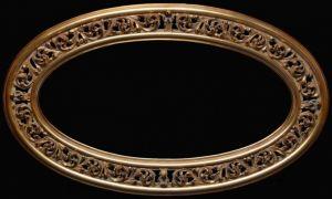Rama Ażurowa Owalna pokrycie: płatki złota (szlagmetal) patyna  rama nr.52
