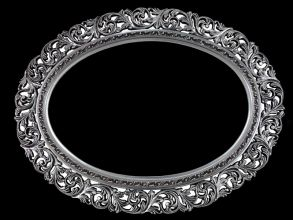 Rama ażurowa owalna srebro szlagmetal art nr. 58