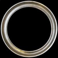 Rama okrągła srebro szlagaluminium szerokość profilu 10cm OV6104-1