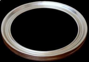 Rama okrągła srebro szlagaluminium szerokość profilu 10cm OV6104-2