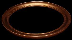 rama owalna pokrycie miedź  szlagmetal art nr. 57