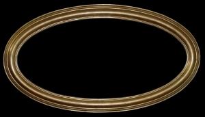 Rama owalna złocona szerokość profilu 6cm art 635z