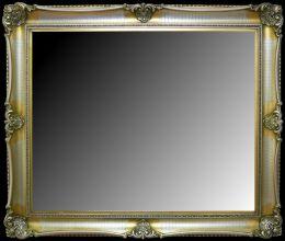 Rama stylowa do lustra , pokrycie płatki złota / patyna. Szerokość profilu ramy 10,5cm. //Nr.17s