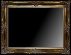 Rama stylowa kryta płatki złota / szlagmetal / szerokość profilu 9cm //Nr.22zb