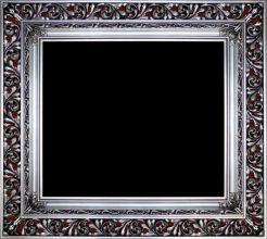 Rama Ażurowa płatki srebro / szlagmetal, szerokość profilu 18cm //Nr.16
