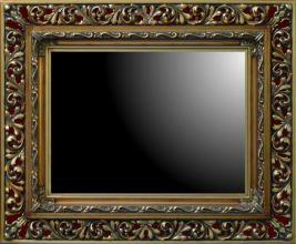 Rama ażurowa szeroka do lustra / pokrycie złoto szlagmetal / szerokość profilu 18cm  //Nr.20