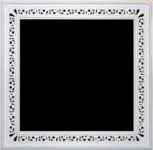 Rama ażurowa lakierowana biały mat / szerokość profilu 18,5cm //Nr.01