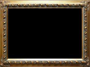Rama stylowa drewniana pokryta płatki złota / szlagmetal / szerokość profilu 10cm  //Nr.14