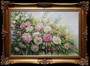 Rama stylowa do lustra lub obrazu, pokrycie płatki złota / patyna. Szerokość profilu 10,5cm. //Nr.21