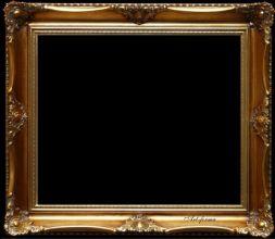 Rama stylowa kryta płatki złota / szlagmetal / szerokość profilu 9cm  //Nr.22