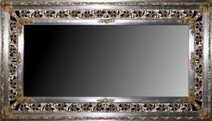 Rama ażurowa srebrzona szeroka, profil 23cm